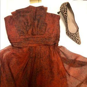 Carolina Herrera Strapless Dress 100% Silk Lovely